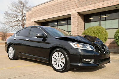 2014 Honda Accord EX-L 2014 Honda Accord EXL Sedan, Leather, Moonroof, Wrecked And Rebuildable