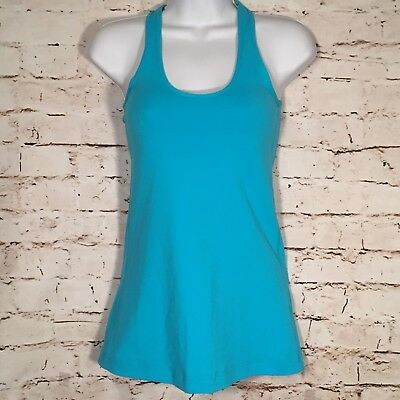 Womens LULULEMON Size 4 Light Blue Racerback Yoga Tank Top Athletica