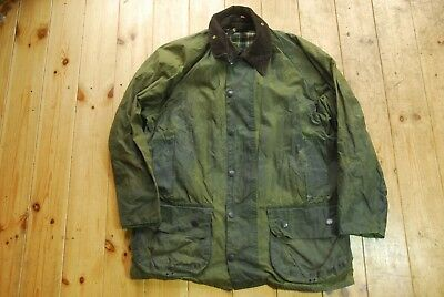 Men's Barbour Beaufort A150 Green Waxed Country Field Jacket Coat 40""