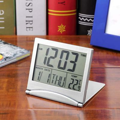 New Desk Digital LCD Thermometer Calendar Alarm Clock flexible cover  TB