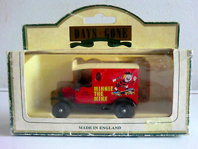 Rare Lledo Diecast Model Van Featuring Minnie The Minx From The Beano - Boxed