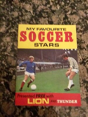 Lion And Thunder FREE GIFT My Favourite Soccer Star Album Empty  SUPER CONDITION