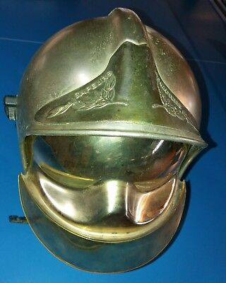 Casque Sapeurs Pompiers French Fireman's Helm Silver Model Sunvisor Cgf Gallet