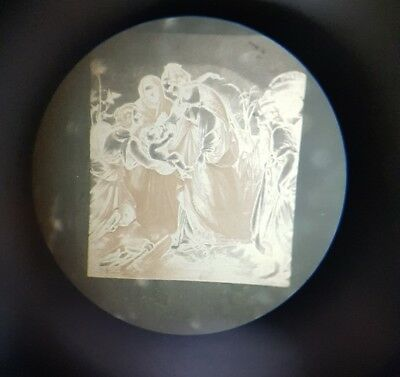 RARE ANTIQUE VICTORIAN MICROPHOTO. MICROSCOPE SLIDE Finding of moses BY KOEHLER