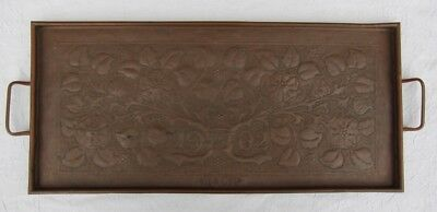 Arts and Crafts copper tray signed and dated 1902. Keswick related? No Reserve