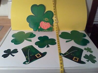 Vintage Mixed Lot St. Patrick's Day Decorations- total of 9 pcs.- Most Hallmark