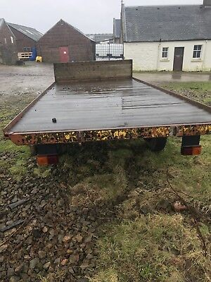 15 ft flat bed farm bale trailer