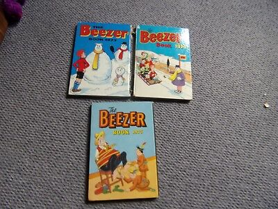 3 Beezer annuals 1973, 1974 and 1975