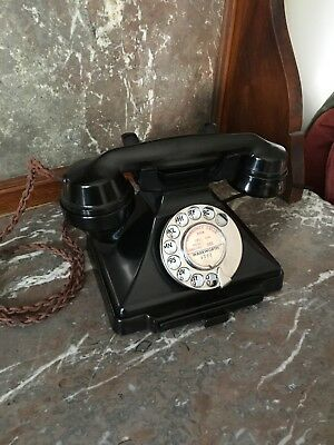 A Vintage Art Deco 1938 Bakelite 232 converted and working in Superb condition