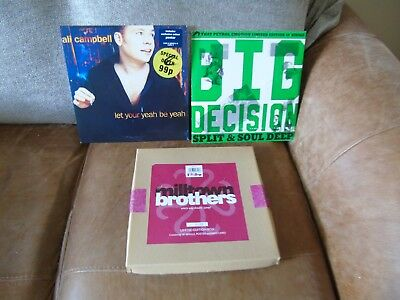 """3 x 10"""" single vinyl records - Various Artists 2 come with original posters"""