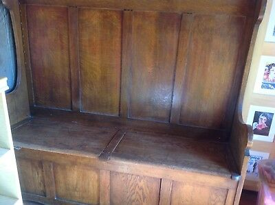 Welsh Settle 19th Centuary Antique Pine Two Box Settle