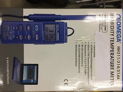 Omega HH311/314/314A TEMPERATURE RELATIVE HUMIDITY METER