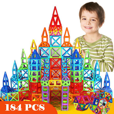 184pcs Magnetic Construction Set Model Building Toy Blocks Educational Kids Gift