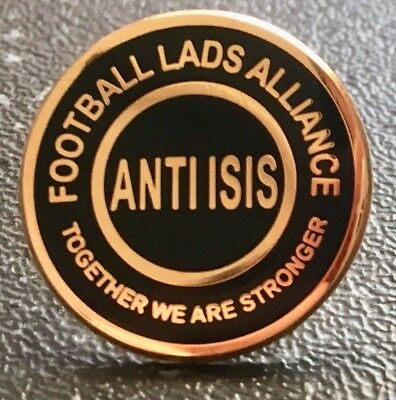 FLA Football Lads Alliance Anti ISIS Metal Pin Badge *New 2018 Design*