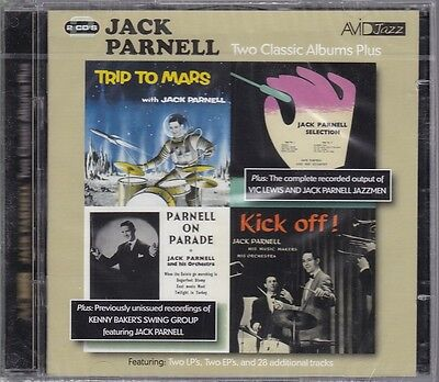 Jack Parnell Two Classic Albums Plus Import 2 CD Set 54 Tracks Trip to Mars NEW