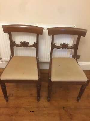 Pair of Edwardian Mahogany Dining Chairs