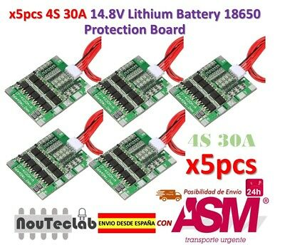 5pcs 4S 30A 14.8V Li-ion Lithium Battery PCB BMS 18650 Charger Protection Board