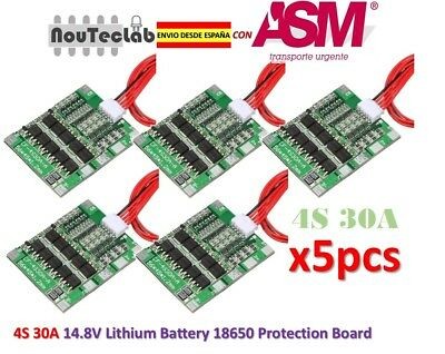 5pcs 4S 30A Li-ion Lithium 14.8V Battery PCB BMS 18650 Charger Protection Board