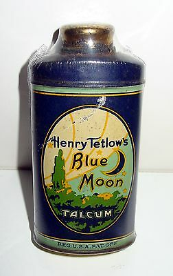 Henry Tetlow's Blue Moon Talcum Talc Powder Tin
