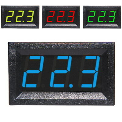 3-30V DC Voltmeter LED Display Digital Panel-Meter Spannungsanzeige Rot Blau