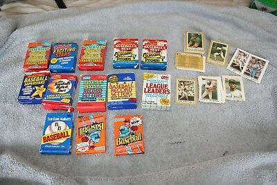 New Old Vintage Baseball MLB Cards SOME IN Unopened Packs SOME NOT