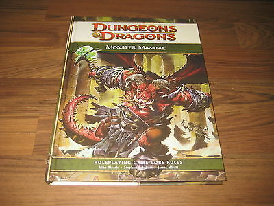 D&D 4th Edition Monster Manual  Core Rules Hardcover WotC 2008 Neu New Mint    h