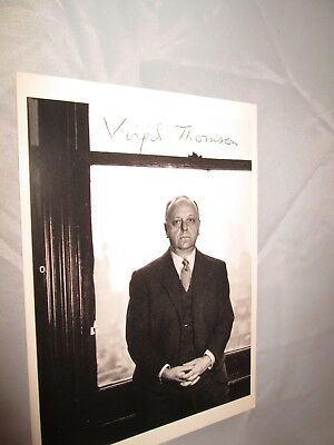 Virgil Thomson American composer and music critic B/w Autographed Photo Postcard