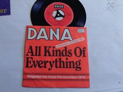 "Dana - All Kinds Of Everything - Channel Breeze - 7"" Single - Decca"