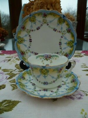 Pretty Vintage / Antique Collingwood's China Trio Tea Cup Saucer Plate Ideal 798