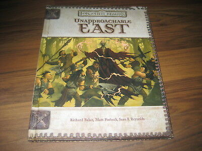 D&D 3.0 / 3.5 Forgotten Realms Unapproachable East Hardcover WotC 17665