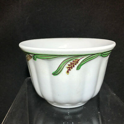 Ceres White Ironstone Green Wheat /.Luster- Waste Bowl