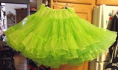 Vintage70's Town&Country Full 4 Layer Lime Green PetticoatCrinoline SquareDance
