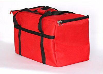 Food Warm Carry Transport Pizza Big Insulated Hot Delivery Bag Travel Red