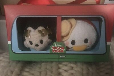 Brand New Boxed Mickey Mouse & Donald Duck Italy Themed Tsum Tsums Boxset