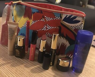 EsteeLauder Cosmetic Bag With 8 Brand New Products