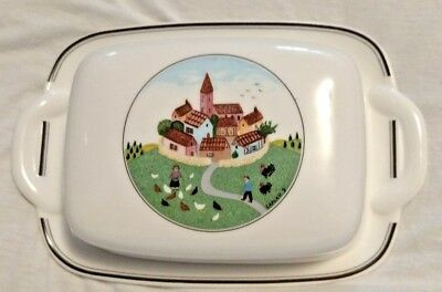Villeroy & Boch Design Naif Rectangular Covered Butter Dish Country Village