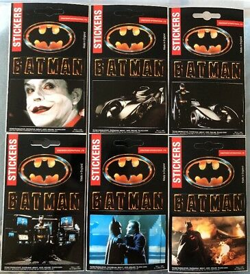 BATMAN 1989 Movie Uk Promotional Sticker Set Complete