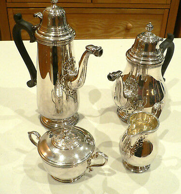 Stunning Solid Silver 4 Piece Tea / Coffee Set Sheffield 1970 over 2.35kg