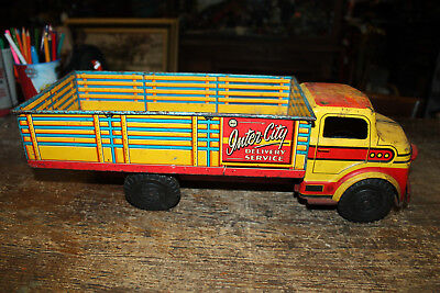 Vintage Marx Inter-City Delivery Service Truck Pressed Steel Lithographed 1950's