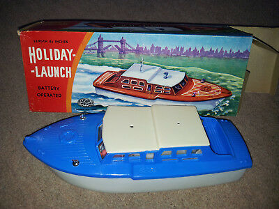 Vintage Battery Toy Boat 1960 rare by Guiterman, Empire Made!!