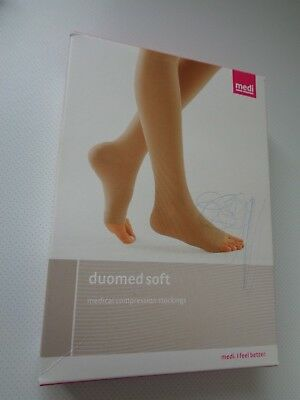 Medi Thigh Stockings With Top Band Open Toe Colour Sand Size Medium