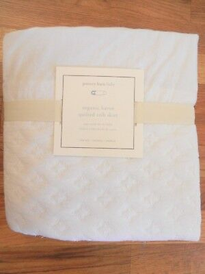 New Pottery Barn Organic Haven Quilted Crib Skirt White Retails for $79!