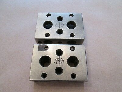 Moore Tool 1-2-3 Blocks, Set of Two (2), Nice Condition