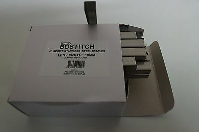 BOSTITCH -STANLEY 80 Series Stainless Steel 10mm Qty10,000 RRP approx$125