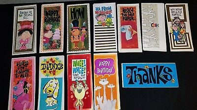 Lot Of 12  ~Mid Century~Vintage 1960's Roth Greeting Cards~~Unused