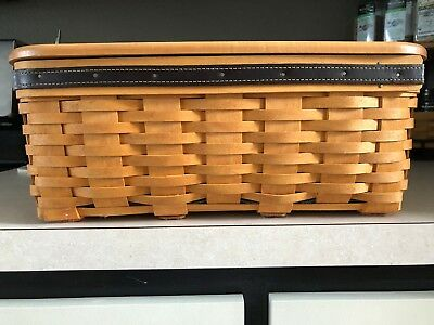 Longaberger Father's Day Checkboard Basket with Checker & Chess Pieces