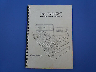 Original 1982 The FAIRLIGHT User Manual COMPUTER MUSICAL INSTRUMENT  VG
