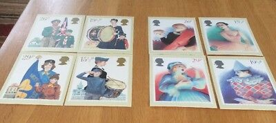 8 Postcards 2x Sets Of First Day Covers With Stamped Backs
