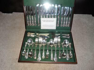"QUALITY SHEFFIELD SILVER PLATE 98Pc CUTLERY CANTEEN ""KINGS PATTERN"" - 8 SETTINGS"