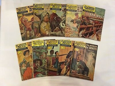 Classics Illustrated lot of 10 Issues GD+ Condition Issues # 1 - # 137 Lot J25A